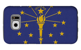 Indiana State Flag Galaxy S6 Case by  Lantern Press