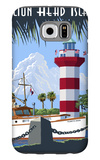 Hilton Head Island, SC - Harbour Town Lighthouse Galaxy S6 Case by  Lantern Press