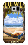Key West, Florida - Hammock Scene Galaxy S6 Case by  Lantern Press