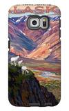 Denali National Park, Alaska - Polychrome Pass Galaxy S6 Edge Case by  Lantern Press
