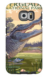 The Everglades National Park, Florida - Alligator Scene Galaxy S6 Edge Case by  Lantern Press