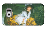 A Young Woman in a Boat Galaxy S6 Case by James Tissot