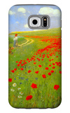 Field of Poppies Galaxy S6 Case by Paul von Szinyei-Merse