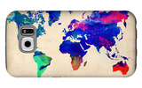 World Watercolor Map 2 Galaxy S6 Case by  NaxArt