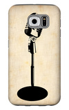 Vintage Microphone Galaxy S6 Case by  NaxArt