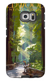 Redwoods State Park - Pathway in Trees Galaxy S6 Edge Case by  Lantern Press