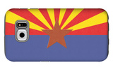 Arizona State Flag Galaxy S6 Case by  Lantern Press