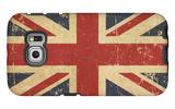 Uk Aged Flat Flag Galaxy S6 Edge Case by  nazlisart