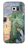 Green Christ Galaxy S6 Case by Paul Gauguin