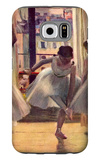 Three Dancers in a Practice Room Galaxy S6 Case by Edgar Degas