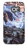 The Big Island, Hawaii - Lava Flow Scene Galaxy S6 Edge Case by  Lantern Press