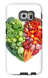 Green And Red Healthy Food Galaxy S6 Edge Case by  ifong