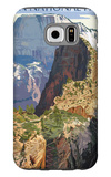 Zion National Park - Angels Landing Galaxy S6 Case by  Lantern Press