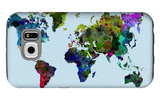 World Watercolor Map 3 Galaxy S6 Case by  NaxArt