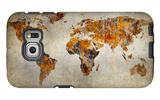 Grunge Map Of The World Galaxy S6 Edge Case by  javarman