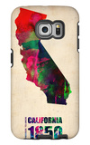 California Watercolor Map Galaxy S6 Edge Case by  NaxArt