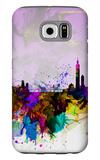 Taipei Watercolor Skyline Galaxy S6 Case by  NaxArt