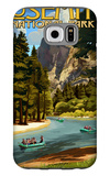 Merced River Rafting - Yosemite National Park, California Galaxy S6 Case by  Lantern Press