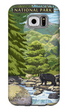 Leconte Creek and Mt. Leconte - Great Smoky Mountains National Park, TN Galaxy S6 Case by  Lantern Press