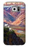 Denali National Park, Alaska - Polychrome Pass Galaxy S6 Case by  Lantern Press