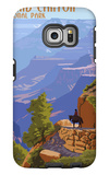 Grand Canyon National Park - Bright Angel Trail Galaxy S6 Edge Case by  Lantern Press