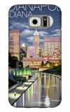 Indianapolis, Indiana - Indianapolis at Night Galaxy S6 Case by  Lantern Press