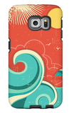Vintage Tropical Background With Sea Waves And Sun Galaxy S6 Edge Case by  GeraKTV