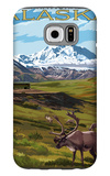 Denali National Park, Alaska - Caribou and Stoney Overlook Galaxy S6 Case by  Lantern Press