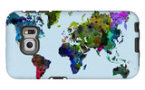 World Watercolor Map 3 Galaxy S6 Edge Case by  NaxArt