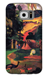 Landscape with Peacocks Galaxy S6 Case by Paul Gauguin