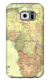 1922 Africa Map with portions of Europe and Asia Galaxy S6 Case by  National Geographic Maps