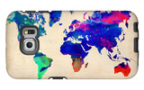 World Watercolor Map 2 Galaxy S6 Edge Case by  NaxArt
