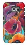 Electric Poppies 1 Galaxy S6 Edge Case by Norman Wyatt Jr.