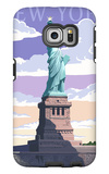 Statue of Liberty National Monument - New York City, NY Galaxy S6 Edge Case by  Lantern Press