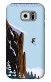 Skier Jumping - Aspen, Colorado Galaxy S6 Case by  Lantern Press