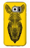 Yellow Zebra Mesh Galaxy S6 Case by Lisa Kroll