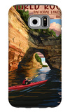 Pictured Rocks National Lakeshore, Michigan Galaxy S6 Case by  Lantern Press