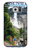 The Mist Trail - Yosemite National Park, California Galaxy S6 Case by  Lantern Press