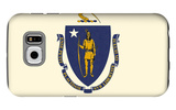 Massachusetts State Flag Galaxy S6 Case by  Lantern Press