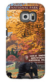 Park Entrance and Bear Family - Great Smoky Mountains National Park, TN Galaxy S6 Edge Case by  Lantern Press