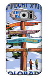 Steamboat Springs, Colorado - Ski Run Signpost Galaxy S6 Case by  Lantern Press