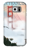 Golden Gate Bridge in Fog - San Francisco, California Galaxy S6 Case by  Lantern Press