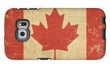 Canadian Aged Flat Flag Galaxy S6 Edge Case by  nazlisart