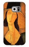 Portrait of Jeanne Hebuterne in a Large Hat Galaxy S6 Case by Amedeo Modigliani