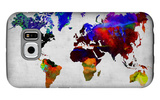 World Watercolor Map 12 Galaxy S6 Case by  NaxArt