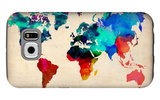 World Watercolor Map 1 Galaxy S6 Case by  NaxArt