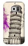 Tower of Pisa in Pen Galaxy S6 Case by Morgan Yamada