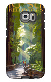 Big Sur, California - Pathway and Hikers Galaxy S6 Edge Case by  Lantern Press