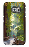 Kings Canyon National Park, California - Pathway and Hikers Galaxy S6 Edge Case by  Lantern Press