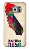 California Watercolor Map Galaxy S6 Case by  NaxArt